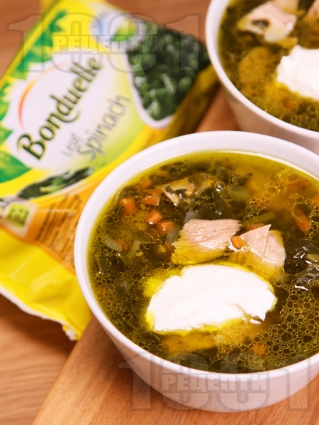 Агнешка супа (с останало печено месо) със замразен спанак за Великден или Гергьовден (без застройка) - снимка на рецептата